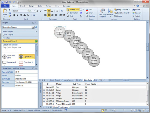 Microsoft Visio 2010 : Linking External Data to Shapes (part 6