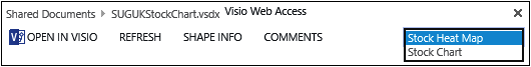 A screenshot of the top portion of a Visio Access webpage, with the Page Navigation box selected showing two pages.